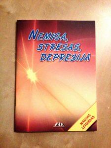 """5 knygos """"Nemiga, stresas, depresija"""""""